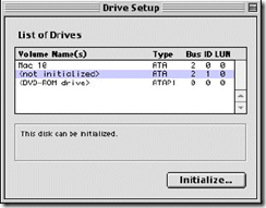 Format hard drive using Mac OS